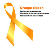 Orange ribbon — Stock Vector