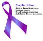 Purple ribbon — Stock Vector