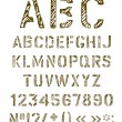 Stencil letters set. — Stockvectorbeeld