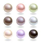 Perlas de diferentes colores — Vector de stock