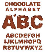 Chocolate alphabet. — Stock Vector