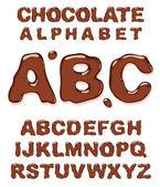 Chocolate alphabet. — Stock Vector