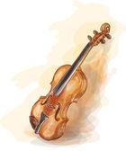 Violin. Vatercolor style. — Stock Vector