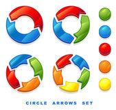 Circle arrows set. — Stock Vector