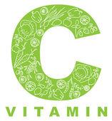 C-vitamin. — Stockvektor