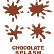 Chocolate splash set. — Stock Vector