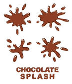 Chocolate splash set. — Stock Vector