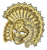 Venetian carnival mask. — Stock Vector