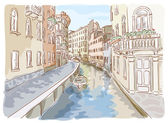 Venice. Watercolor style. — Stock Vector