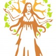 Panacea - ancient Greek goddess. — Stock Vector