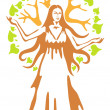 Panacea - ancient Greek goddess. — Stock Vector #9830991