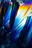 Salicylic acid crystals in polarized light — Stock Photo