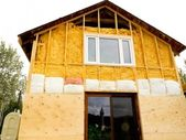 Retrofit old house with energy saving insulating — Foto de Stock