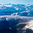 Aerial view of snowcapped peaks in BC, Canada — Stock Photo #10449267
