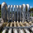 Pipeline installation for distribution and supply — Stock Photo