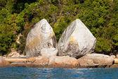 Split Apple Rock near Abel Tasman NP, New Zealand — Stock Photo