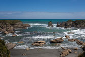 Tasman Sea at West Coast of South Island of NZ — ストック写真