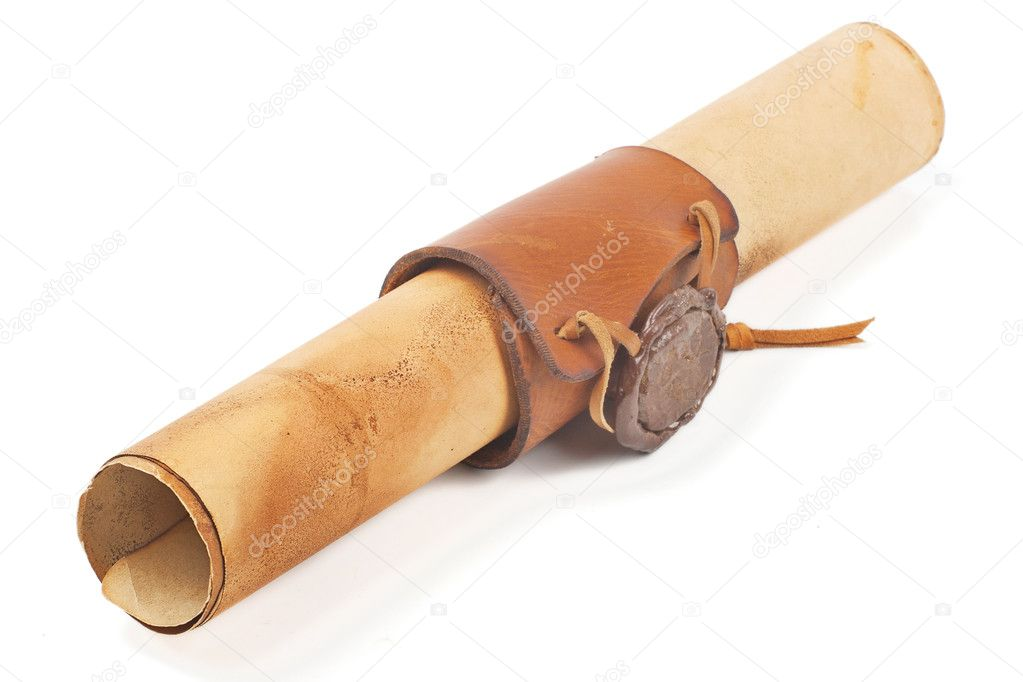Old rolled paper — Stock Photo #8334951