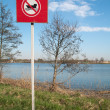 No Speedboat Driving In This Area Sign — Stock Photo