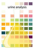 Urine analysis — Stock Vector