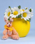 Easter Egg with Bunny — Stock Photo
