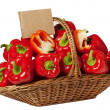 Basket of Red Peppers — Stock Photo