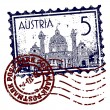 Vector illustration of stamp or postmark of Austria — Imagens vectoriais em stock