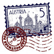 Vector illustration of stamp or postmark of Austria — Image vectorielle