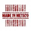 Vector illustration of made in Mexico print icon — Stock Vector