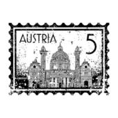 Vector illustration of stamp or postmark of Austria — Stock Vector