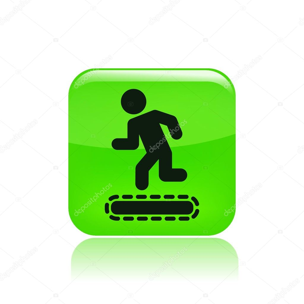 Vector illustration of tapis roulant icon — Stock Vector #8816824