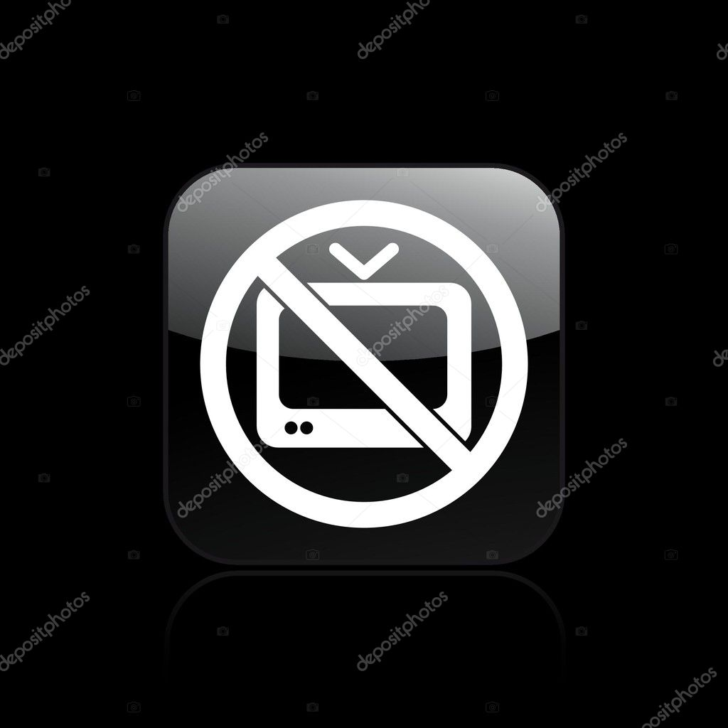 Vector illustration of single isolated icon depicting a tv forbidden — Stock Vector #8817130