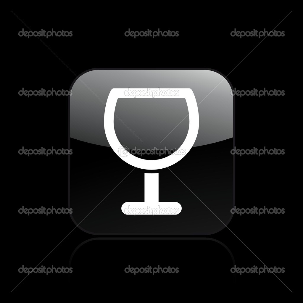 Vector illustration of single isolated glass icon — Stock Vector #8817337