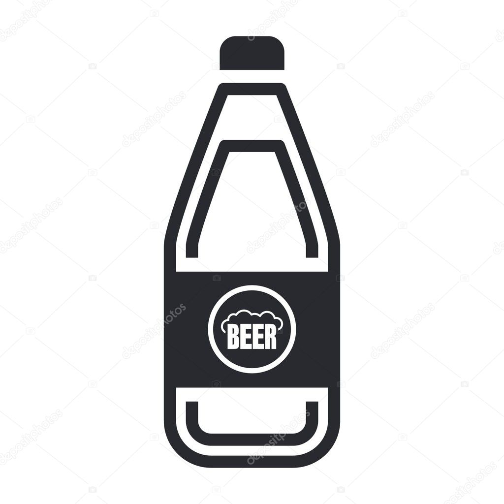 Vector illustration of single isolated beer icon — Stock Vector #8817596