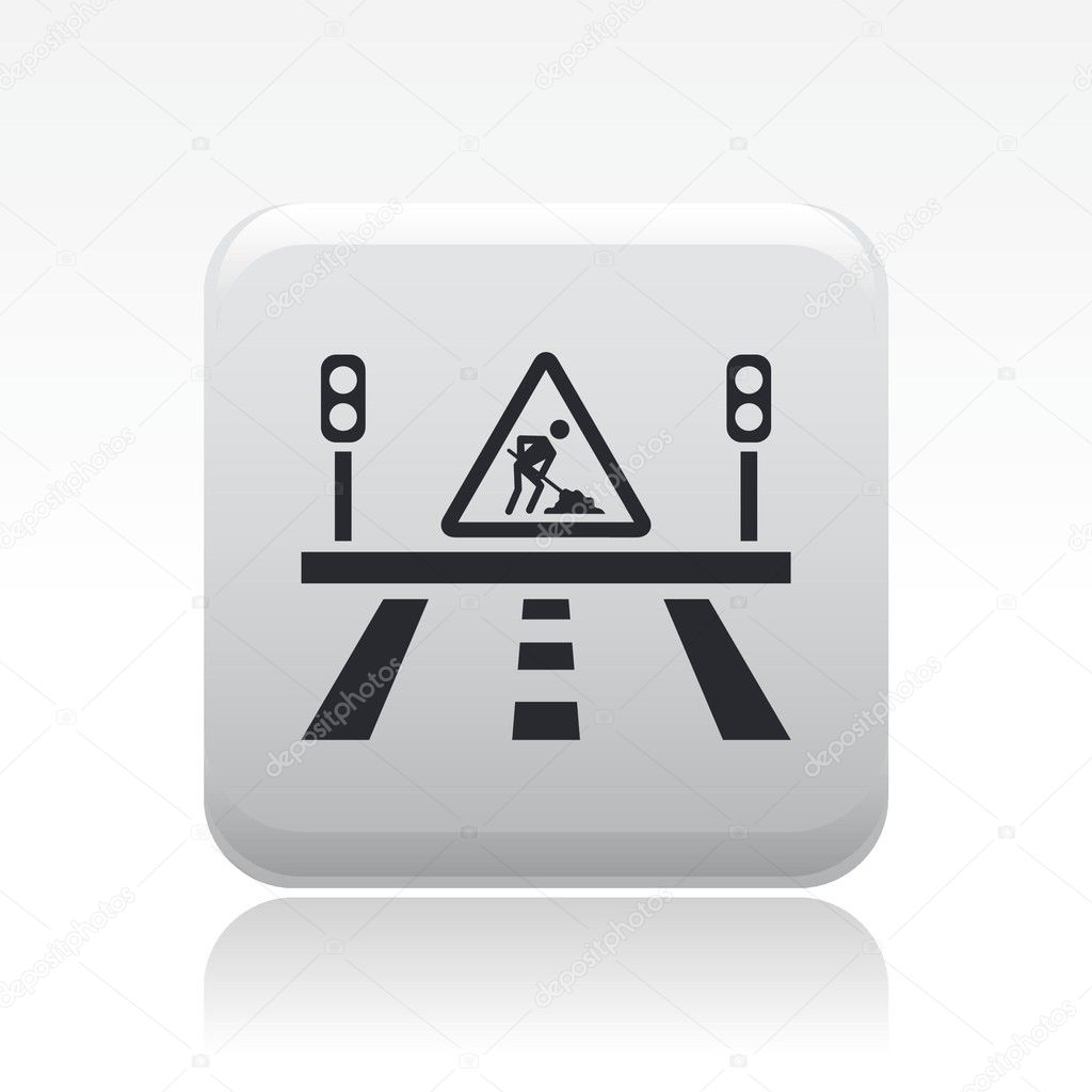 Vector illustration of single isolated road icon — Stock Vector #8817959