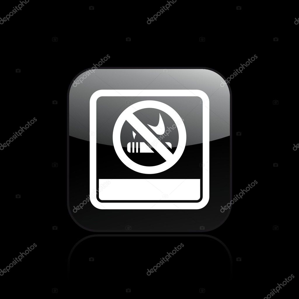 Vector illustration of single isolated no smoke icon — Stock Vector #8817993