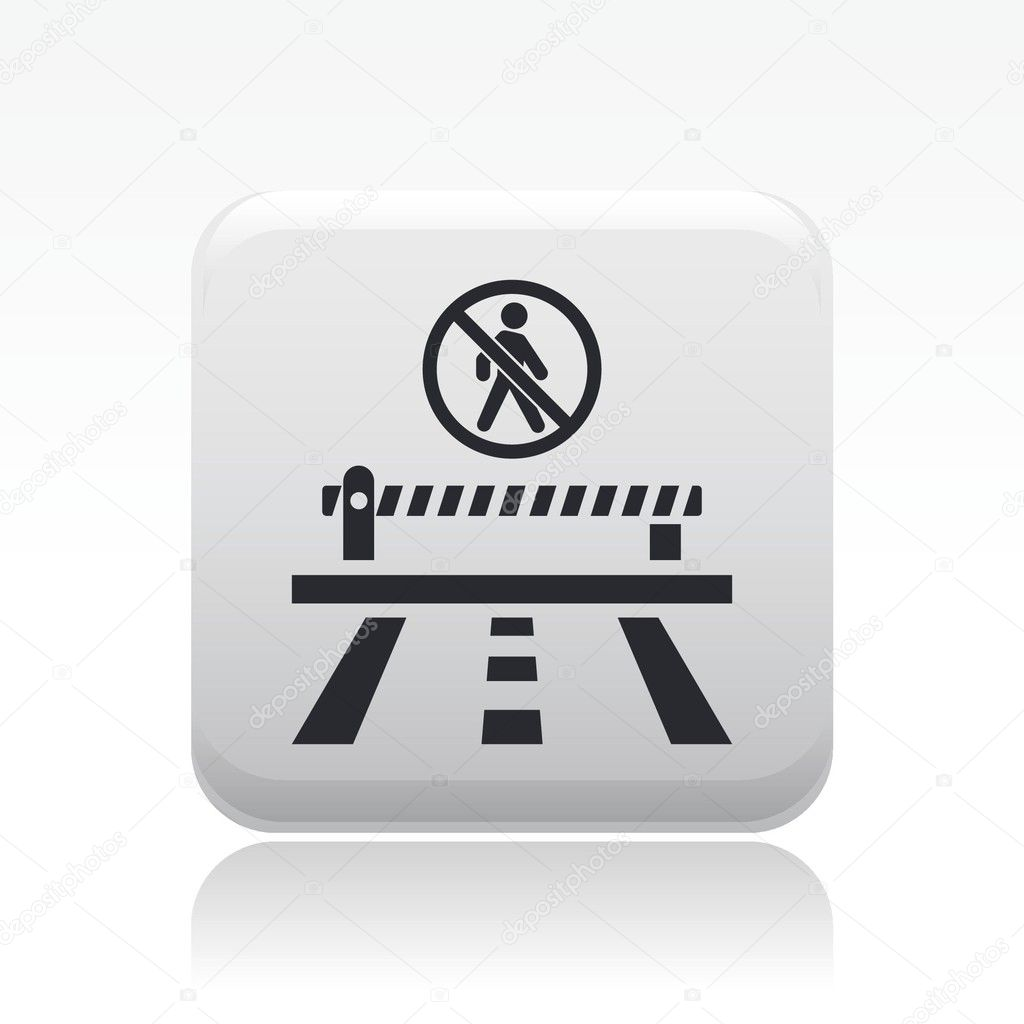 Vector illustration of single isolated access forbidden road icon — Stock Vector #8818273