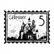 Vector illustration of isolated Germany icon - Stock Vector