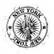 Vector illustration of single New York stamp icon — Stok Vektör #8826315