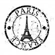 Vector illustration of isolated Paris icon — Stock Vector