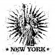 Vector illustration of single New York stamp icon — Stok Vektör #8826320