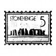 Vector illustration of single Stonehenge icon - ベクター素材ストック