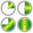 Vector illustration of single isolated time steps icon - Stock Vector