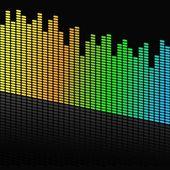 Vector illustration of single audio design — Stock Vector