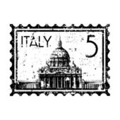 Ilustración vectorial de aislados icono estampilla de italia — Vector de stock