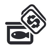 Vector illustration of isolated fish price icon — Stock Vector