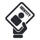 Vector illustration of single ID card icon — Stock Vector