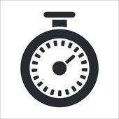 Vector illustration of single timer icon — Vecteur