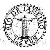 Vector ilustración de un único icono de sello de río de janeiro — Vector de stock
