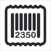 Vector illustration of isolated barcode icon — Stock Vector